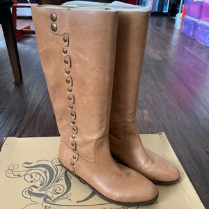NIB NINE WEST Vintage Leather Riding Boots 7.5